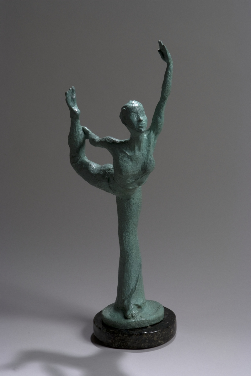 Dancer Pose, bronze, 23 in. high
