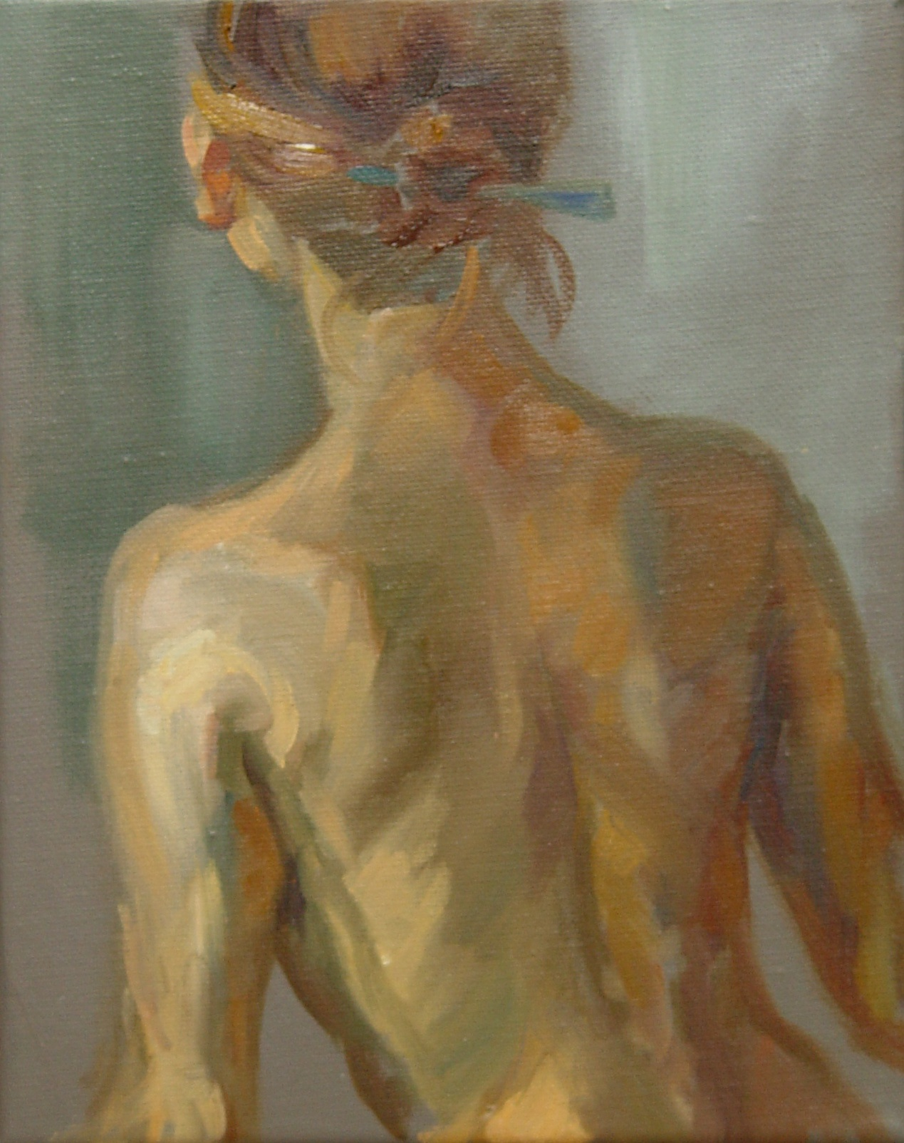 Julia's Back, oil