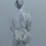 Standing Nude, charcoal and chalk