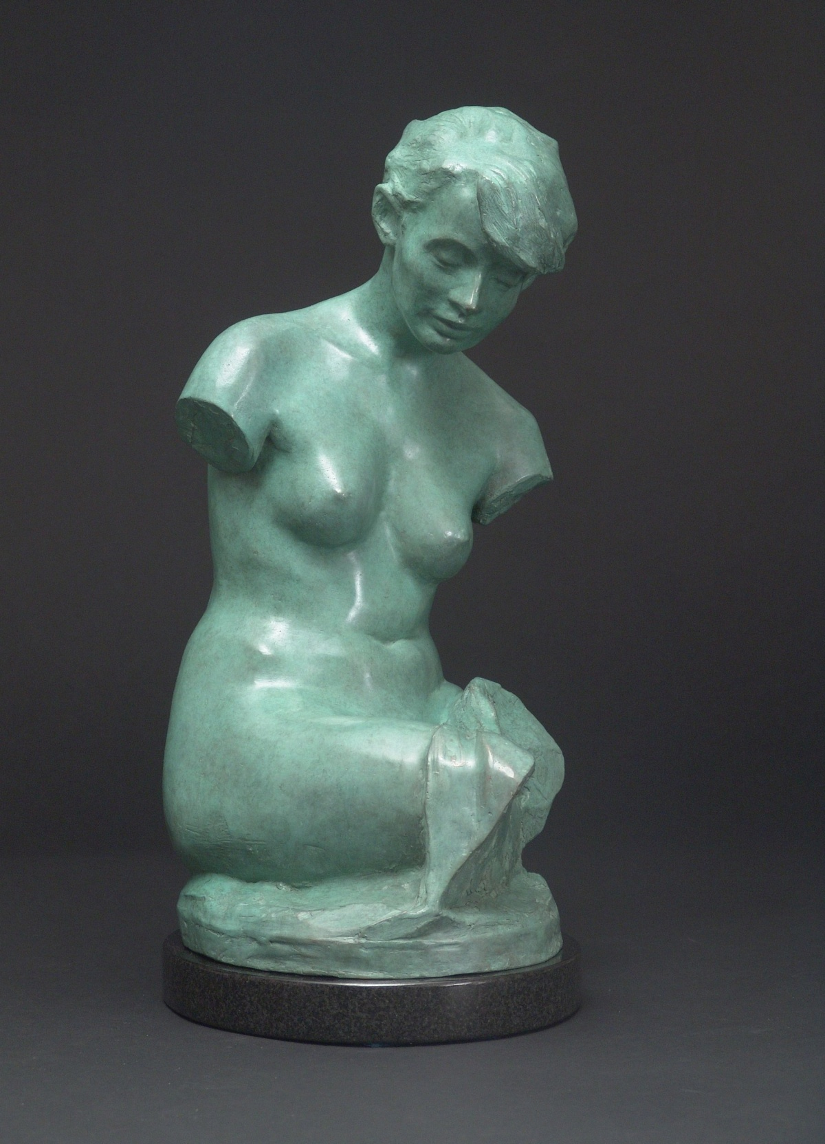 Torso, bronze, 20 inches high